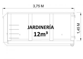 Contenedor de 12m³ para restos de jardinería