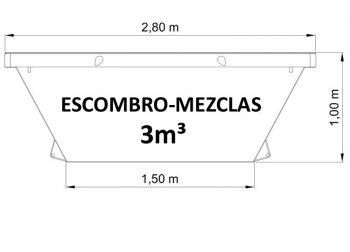 Contenedor de 3m³ para todo tipo de residuos sólidos no peligrosos