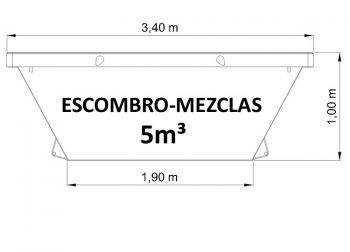 Contenedor de 5m³ para todo tipo de residuos sólidos no peligrosos