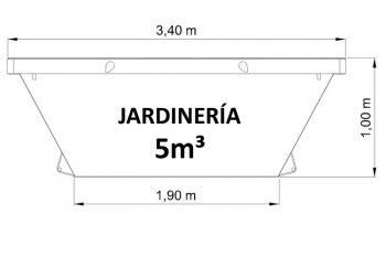 Contenedor de 5m³ para restos de jardinería