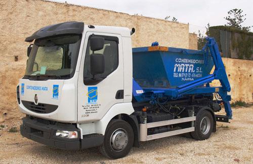 Camión contenedor de 3m³